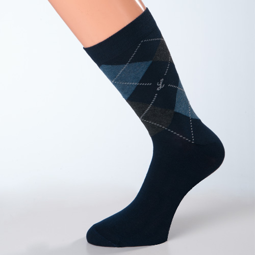 dunkelblaue business-herrensocken baumwolle